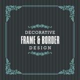 Dekoracyjna rama, granica z Ornamentacyjnym Kreskowym stylem Obraz Stock