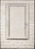 Dekoracyjna rama kamienna i kamienna ściana Zdjęcie Royalty Free