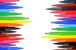 Dekoracyjna rama od kolorowych markierów Zdjęcie Royalty Free