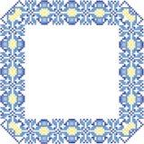 Dekoracyjna rama Ornament krzyż Zdjęcie Royalty Free