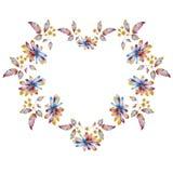 Dekoracyjna rama z kolorowymi stokrotka kwiatami ilustracji