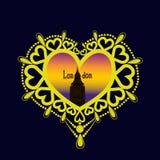 Dekoracyjna ramowa miłość 6 Zdjęcia Stock
