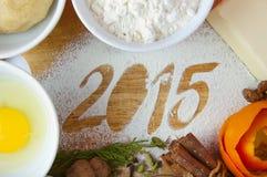 Dekoracyjna rejestracyjna inskrypcja 2015 Obraz Stock