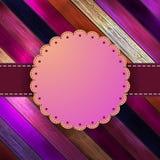Dekoracyjna rocznik karta z copyspace. + EPS8 Zdjęcie Stock