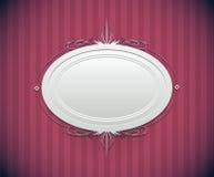 Dekoracyjna round rama ilustracja wektor