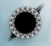 Dekoracyjna round rama ilustracji