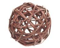 Dekoracyjna sfera robić obszyty łozinowy Zdjęcie Royalty Free