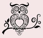 dekoracyjna sowa Obraz Royalty Free