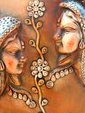 Dekoracyjna ulga w terakocie zdjęcia royalty free