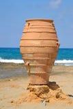 Dekoracyjna waza na Egejskim wybrzeżu Obrazy Stock