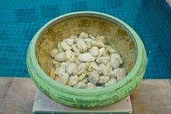 Dekoracyjna waza z kamieniami Obraz Stock