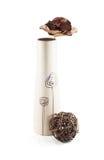 Dekoracyjna waza z wysuszoną rośliną Obrazy Stock