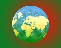 Dekoracyjna światowa kula ziemska Obraz Royalty Free