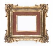 Dekoracyjna złota rama - ozdobna rama, klasyczna Zdjęcia Royalty Free
