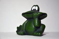 Dekoracyjna zielonej żaby postać obraz royalty free