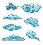 Dekoracyjne chmury. ilustracji