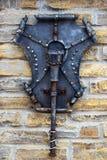 Dekoracyjne części metal bramy, elementy ręki skucie Zdjęcie Stock