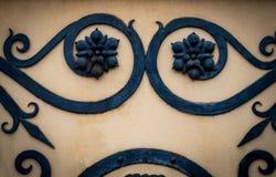 Dekoracyjne części metal bramy, elementy ręki skucie Obraz Royalty Free