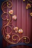 Dekoracyjne części metal bramy, elementy ręki skucie Obrazy Royalty Free