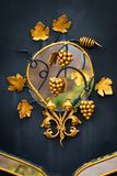 Dekoracyjne części metal bramy, elementy ręki skucie Fotografia Royalty Free