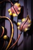 Dekoracyjne części metal bramy, elementy ręki skucie Obraz Stock