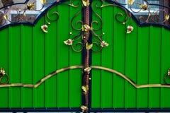 Dekoracyjne części metal bramy, elementy ręki skucie Zdjęcie Royalty Free