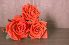 Dekoracyjne czerwone róże handmade dla dekoracyjnego use Zdjęcia Stock