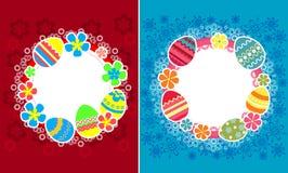 Dekoracyjne Easter ramy ilustracja wektor