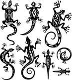 dekoracyjne jaszczurki Obraz Royalty Free