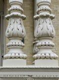 Dekoracyjne kolumny na wiktoriański domu obraz stock