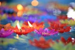 Dekoracyjne kwiat świeczki Zdjęcie Stock