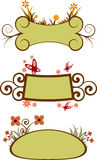 dekoracyjne kwieciste ramy Royalty Ilustracja