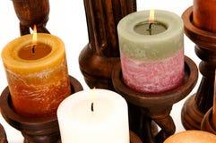Dekoracyjne Perfumowe świeczki Zdjęcia Royalty Free