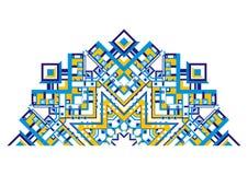 dekoracyjnego fan geometryczny wzór Zdjęcia Royalty Free