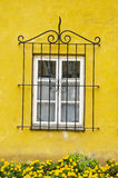 dekoracyjnego gretingu domu ochronny okno Zdjęcia Royalty Free
