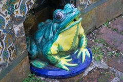 Dekoracyjnego kamienia żaba Fotografia Royalty Free