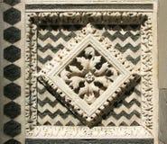 Dekoracyjnego kamienia płytka przy dziejowym budynkiem Zdjęcie Royalty Free