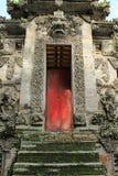 Dekoracyjnego kamienia wejście Pura Kehen świątynia w Bali Obrazy Royalty Free