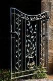 Dekoracyjnego metalu ogrodowa brama Obrazy Royalty Free