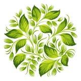 Dekoracyjnego ornamentu ziołowy okrąg ilustracji