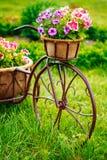 Dekoracyjnego rocznika modela Stary bicykl Wyposażający Fotografia Royalty Free