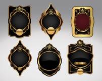 dekoracyjnej etykietki ozdobny set Obraz Royalty Free
