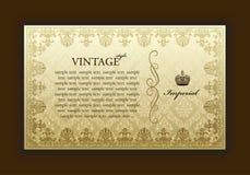 dekoracyjnej struktury cesarski stary rocznik Obraz Royalty Free