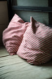 dekoracyjnej tkaniny naturalna poduszka Zdjęcie Royalty Free