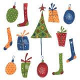 dekoracyjni Boże Narodzenie elementy Fotografia Royalty Free