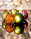 Dekoracyjni Bożenarodzeniowi ornamenty Zdjęcie Stock