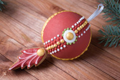 Dekoracyjni 3d ciastka piernikowi boże narodzenia, nowy rok zabawka Zdjęcia Stock