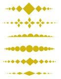 dekoracyjni dividers ilustracja wektor