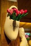 Dekoracyjni drewniani tulipany Zdjęcie Royalty Free
