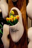 Dekoracyjni drewniani tulipany Obrazy Royalty Free